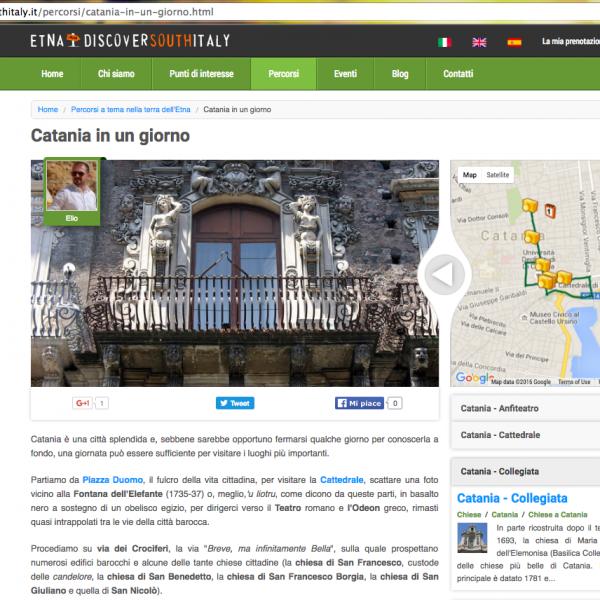 """Itinerario tematico """"Discover South Italy (Etna)"""""""