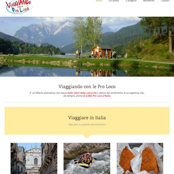 Homepage Viaggiando con le Pro Loco