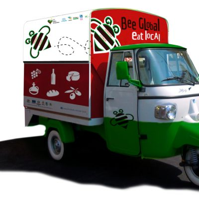 "Ape personalizzata ""Bee Global Eat Local"""